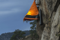 Tent Hanging Off Mountain & In The Morning Descent From ...