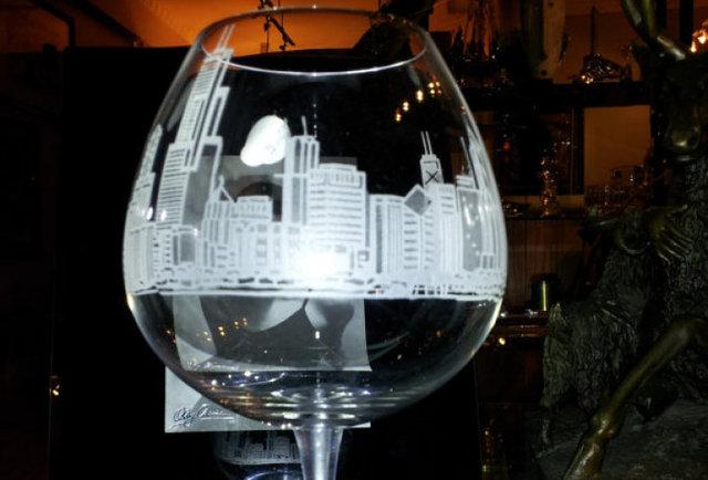 Chicago Skyline Wine Glasses  Own  Thrillist Chicago