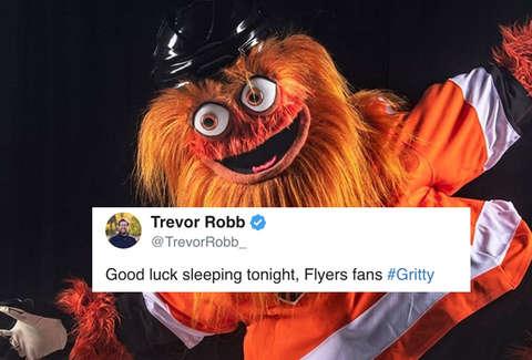 Philadelphia Flyers Mascot Gritty is Terrifying People on