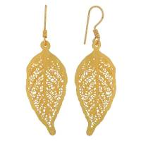 Buy Grand Gold Filigree Festival Pendant Set with Earrings