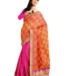 Buy Rangoli-Designer half and half banarasi saree  party-wear-saree online