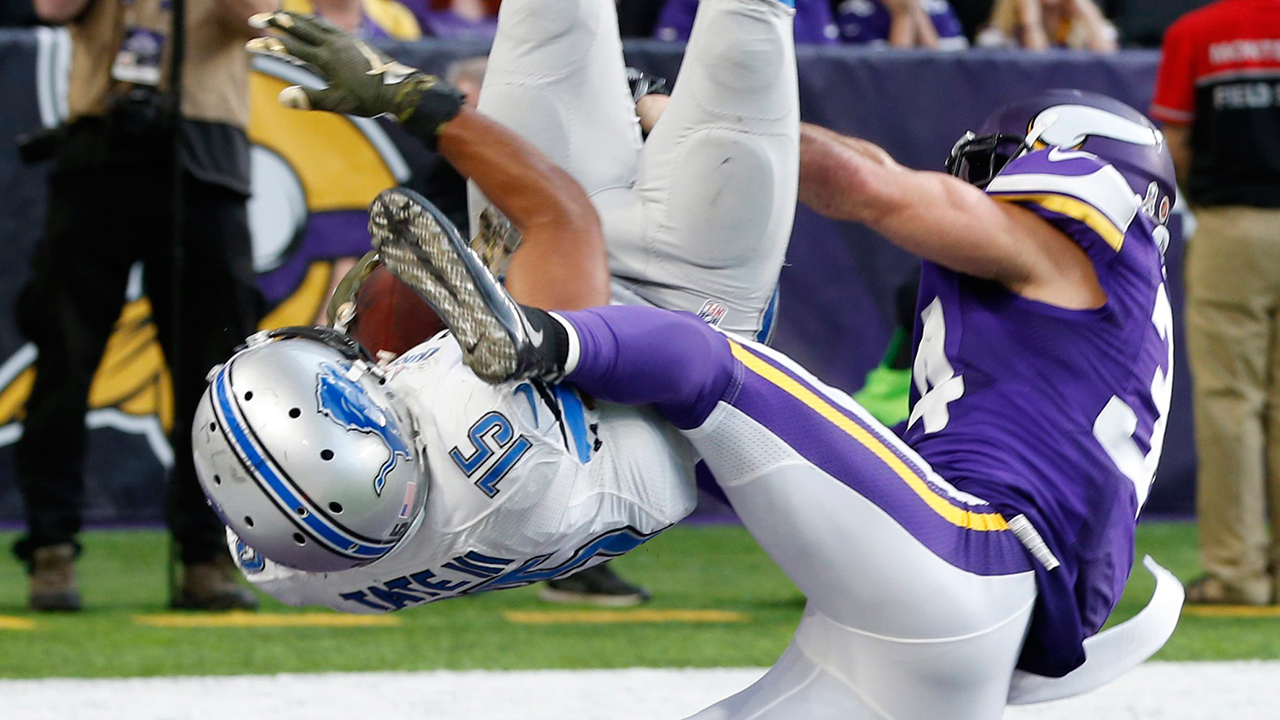 Tates Touchdown Flip Lifts Lions Over Vikings In Overtime