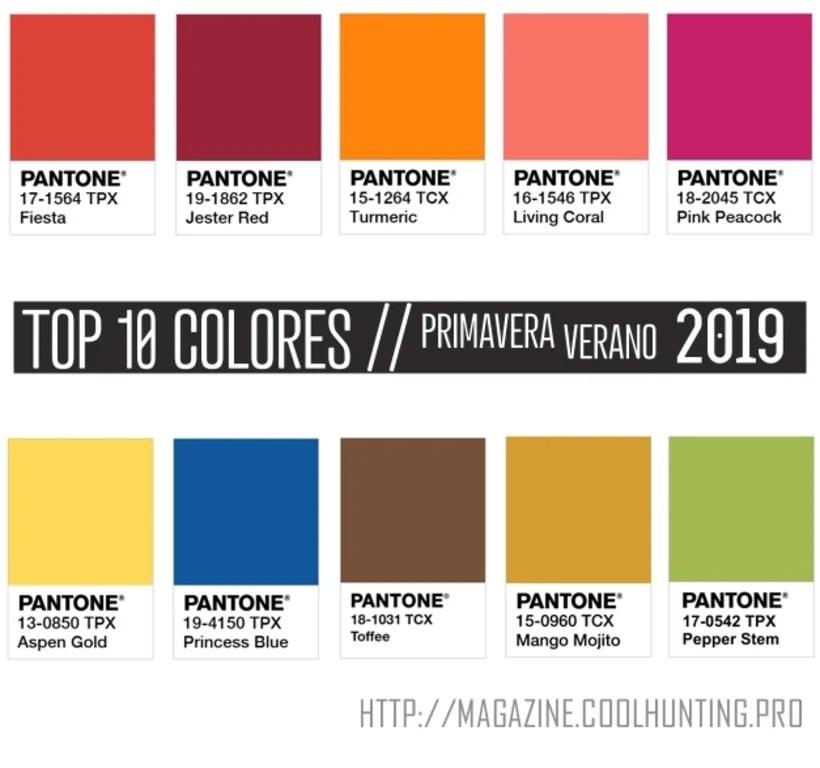 Tendencias Color Para La Temporada Primaveraverano 2019