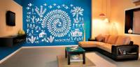 Buy Medium Warli Art Village Wall Decal Ethnic Indian Online