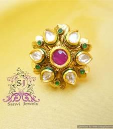Buy Kundan Adjustable Ring Ring online