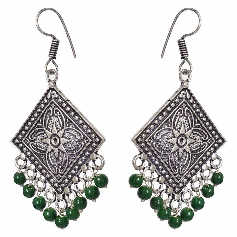 Buy Green pearl earrings Online