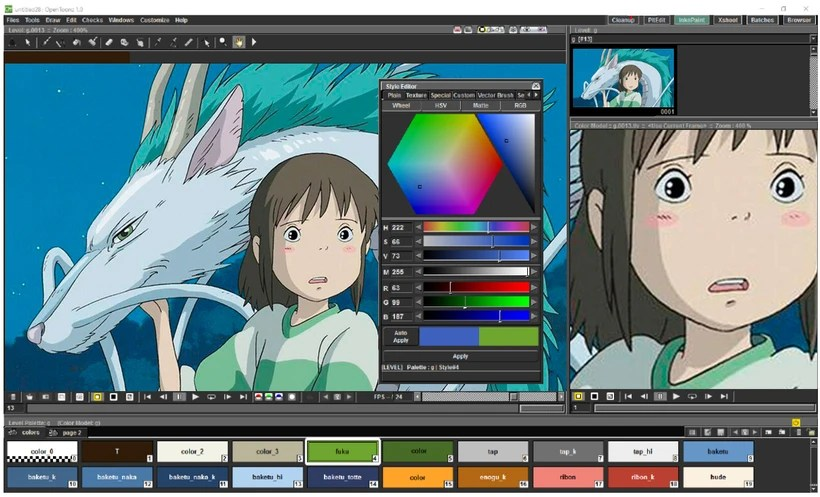 OpenToonz: software de animación 2D gratis y open source 0