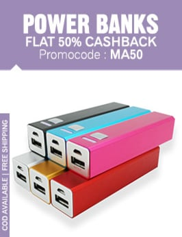 power banks 50 cashback electronics sale