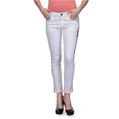 United Colors of Benetton White COTTON Jeans for Women