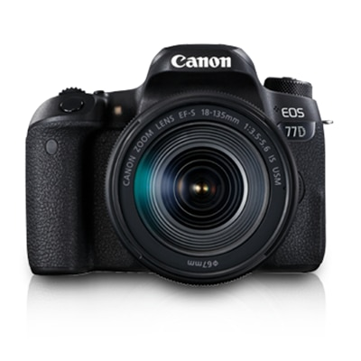 Canon EOS 77D Kit (EF-S18-135 IS USM) 24.2 MP DSLR Camera (Black)