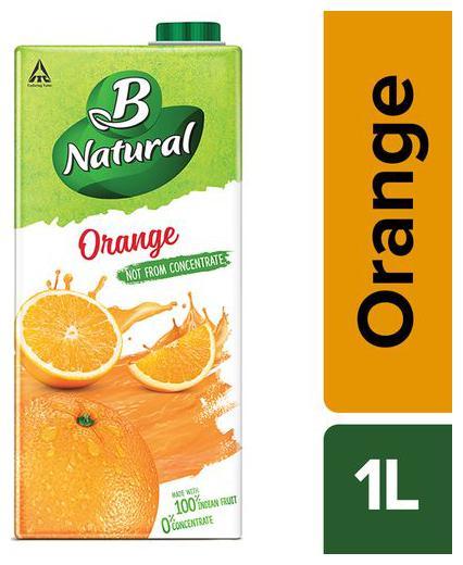 B Natural Juice - Orange Oomph 1 Ltr