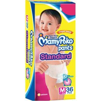Mamy Poko Extra Absorb Pants Diaper M- 36 STD Pcs