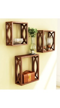 Buy Home Store Brown Wooden Wall Shelf Of Wall Decor ...