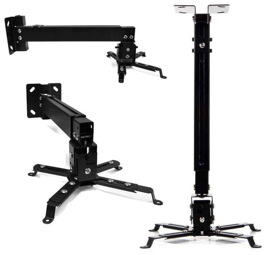 Tech Gear Ceiling Mount Kit Projector Stand Height Adjustable Projector Bracket Swivel Ceiling Mount for Projector;3 ft