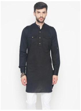 Image result for The Indian Garage Co. Men's Slim Fit Solid Kurta Pyjama