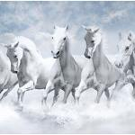 Buy Graffiti Seven Running Horses Vastu Painting Non Tearable Peel And Stick Poster Online At Low Prices In India Paytmmall Com