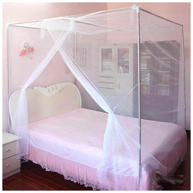 4 corner cover bed canopy mosquito net full queen small king twin size netting