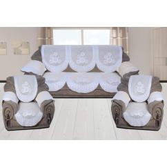Sofa Covers Low Price Chesterfield Pottery Barn Buy 5 Seater Net Fabric Cover With 6 Pcs Arms Pack Of 16