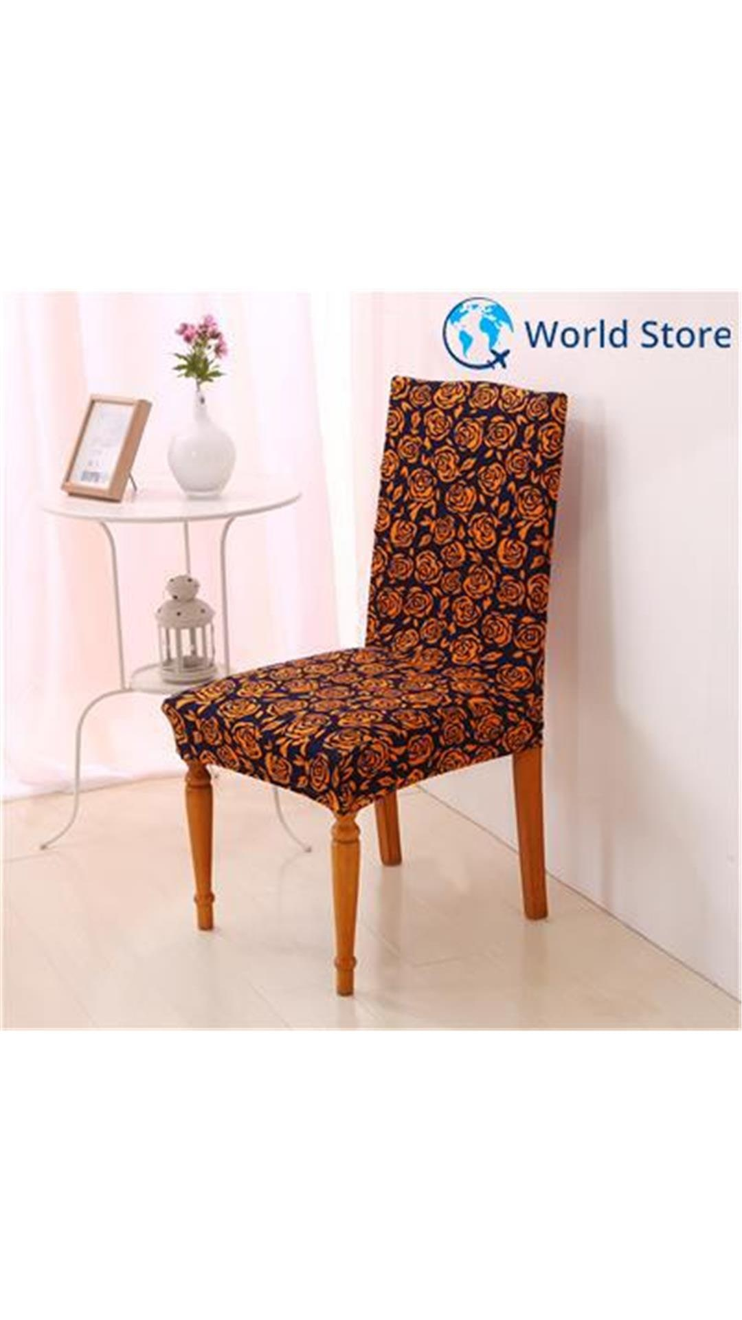 dining chair covers in india silver cheap buy magideal protector stretch slipcover home decor brown rose