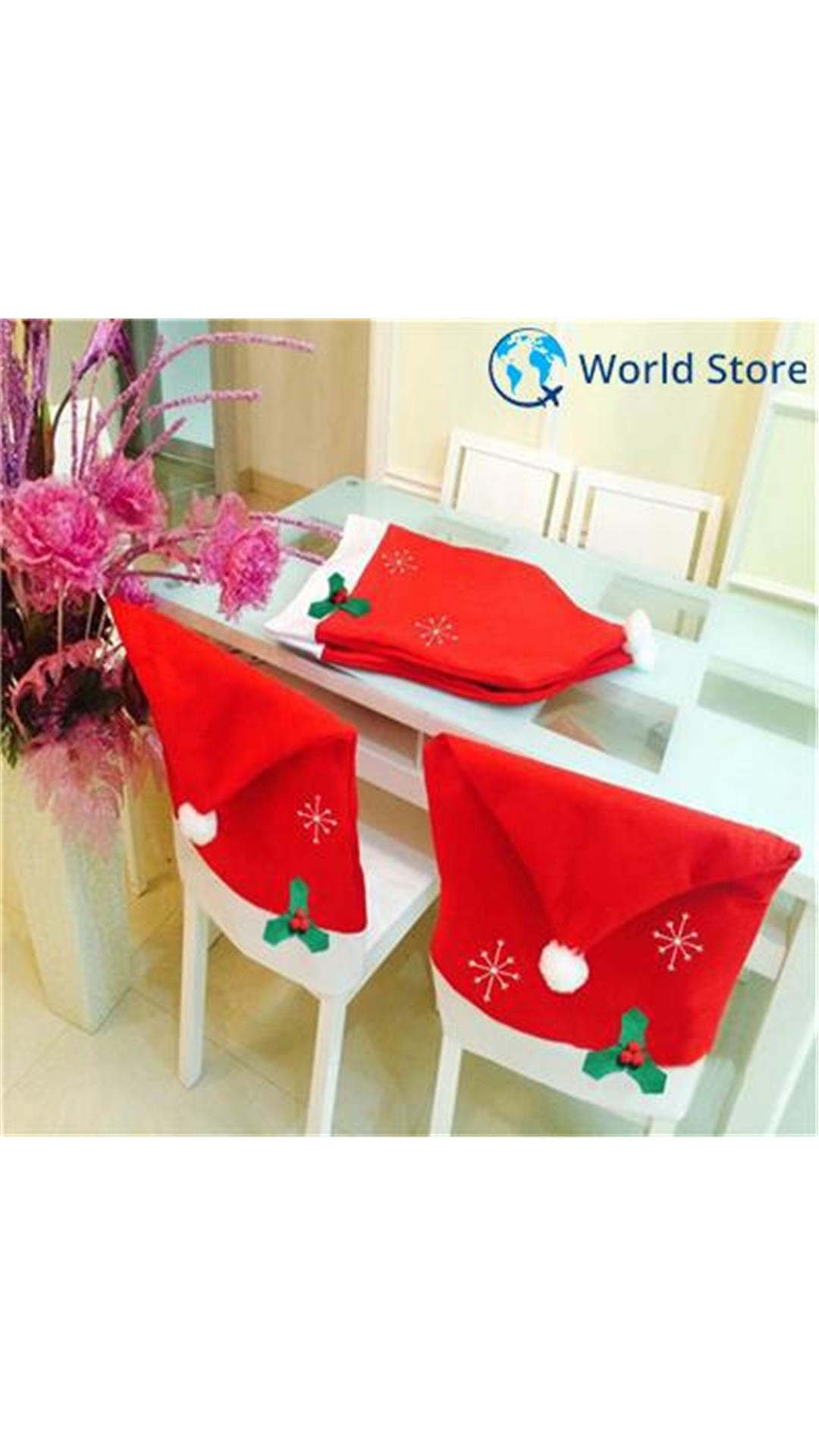 christmas folding chair covers swedish high buy magideal snowflake party home hotel decoration
