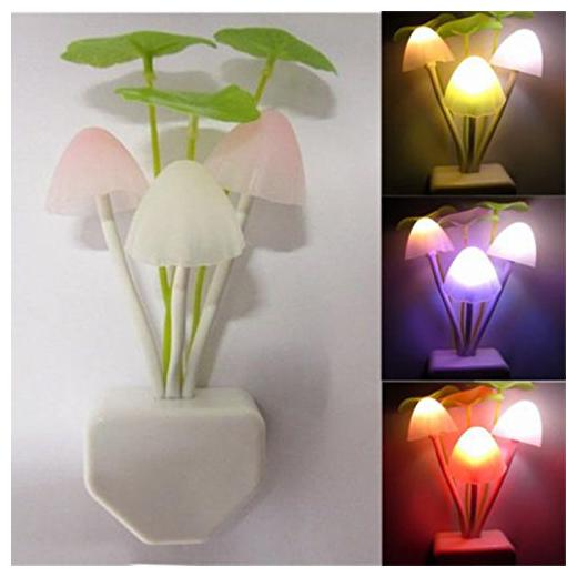 Buy Marketwala Led Night Light Lamp Mushroom Plant Shape With Smart Sensor Decorate For Bedroom Night Lamp Pack Of 1 White Online At Low Prices In India Paytmmall Com