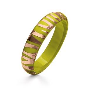 FOLLI FOLLIE - Γυναικείο στενό σταθερό βραχιόλι FOLLI FOLLIE πράσινο