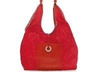 FOLLI FOLLIE - Γυναικεία hobo τσάντα με δίχτυ Folli Follie κόκκινη