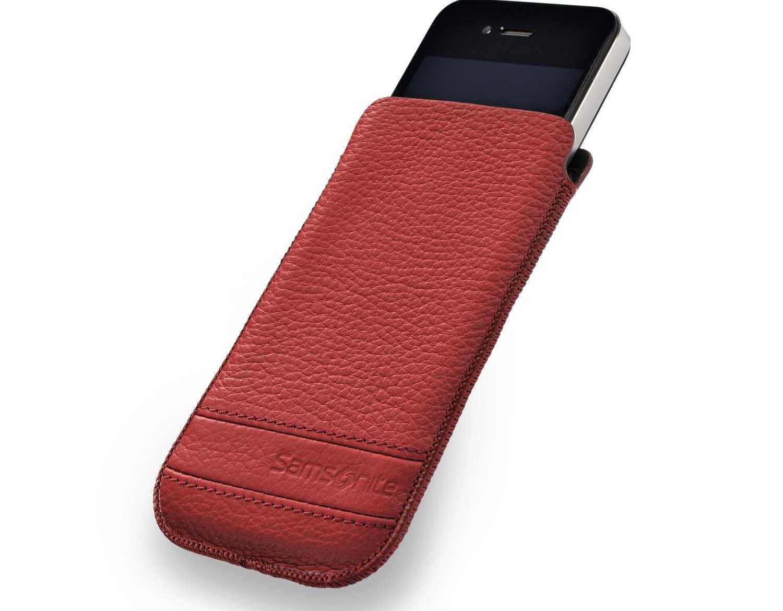SAMSONITE - Θήκη κινητού CLASSIC LEATHER iPHONE 5 MAGIC κόκκινη