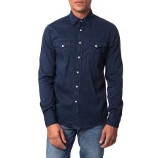 GAS - Ανδρικό πουκάμισο Gas μπλε