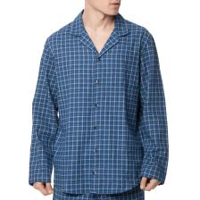 CK UNDERWEAR - Ανδρική πιτζάμα-πουκάμισο CK Underwear καρό μπλε