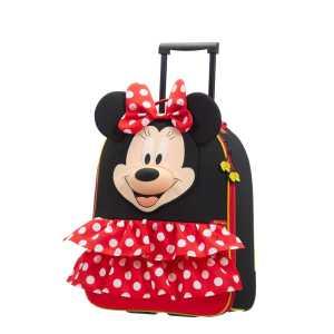 SAMSONITE - Παιδική βαλίτσα τρόλεϋ SAMSONITE DISNEY ULTIMATE UPRIGHT 50/18 μαύρη κόκκινη