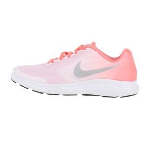 838d85c3a8e NIKE - Παιδικά αθλητικά παπούτσια NIKE REVOLUTION 3 (GS) ροζ-λευκά