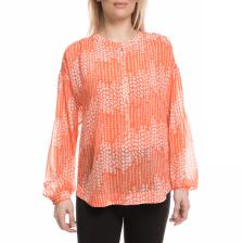 JUICY COUTURE - Γυναικείο πουκάμισο JUICY COUTURE με πορτοκαλί μοτίβο 14a1b1c8eb5