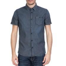 GUESS - Ανδρικό κοντομάνικο πουκάμισο GUESS ντένιμ