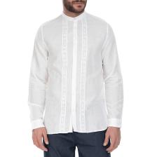 GUESS - Ανδρικό λινό πουκάμισο GUESS λευκό