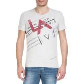 GUESS - Ανδρική κοντομάνικη μπλούζα GUESS μπεζ image