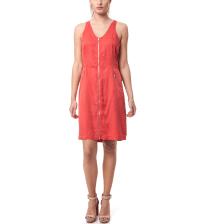 CALVIN KLEIN JEANS - Γυναικείο φόρεμα Calvin Klein Jeans κοραλί-κόκκινο