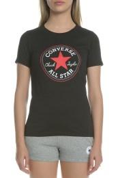 CONVERSE - Γυναικείο t-shirt CONVERSE SS crew tee μαύρο