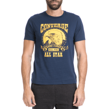 CONVERSE - Ανδρικό t-shirt Converse Eagle Music Heritage μπλε