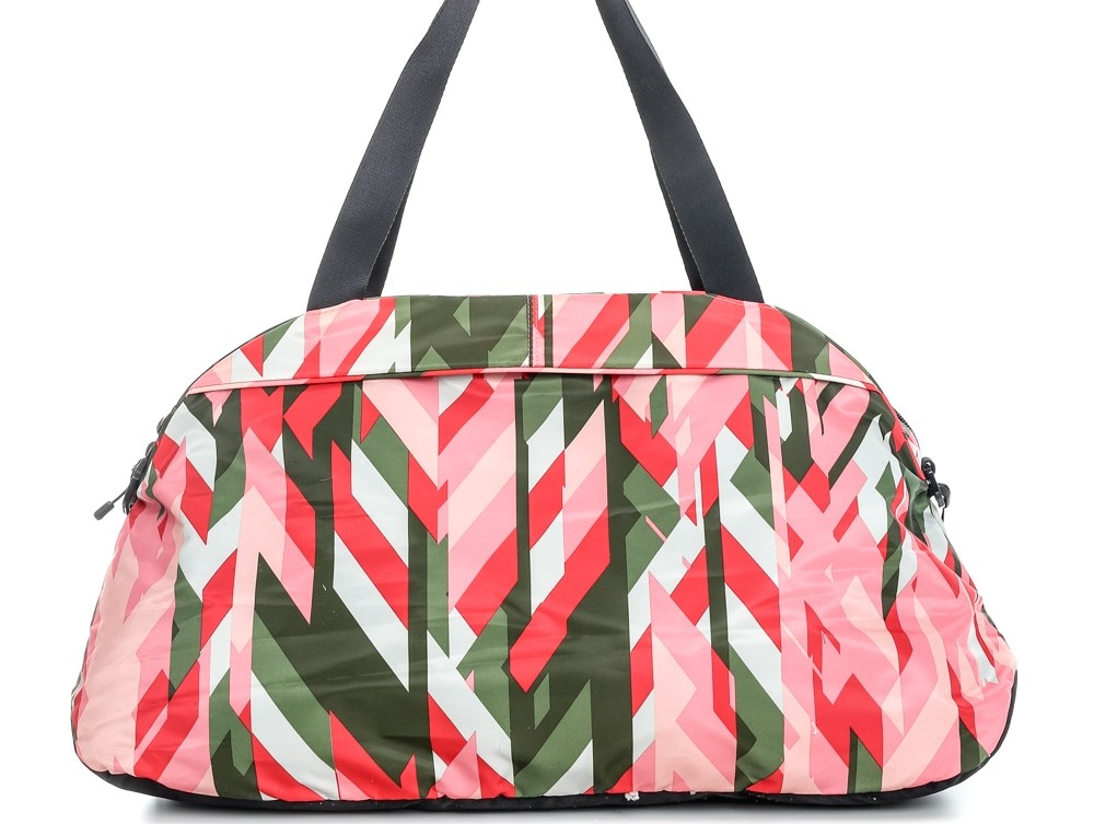 NIKE - Γυναικείο σακίδιο Nike AURA CLUB - PRINT κόκκινο-πράσινο μοτίβο