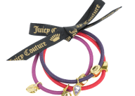 JUICY COUTURE - Σετ από 3 λαστιχάκια μαλλιών JUICY COUTURE CHARMY πολύχρωμα