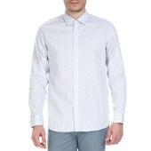 TED BAKER - Ανδρικό μακρυμάνικο πουκάμισο Ted Baker λευκό με print image