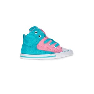7ec9b588661 CONVERSE - Βρεφικά μποτάκια Chuck Taylor All Star First St ροζ-μπλε