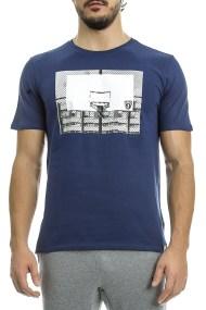 NIKE - Κοντομάνικη μπλούζα Nike μπλε με στάμπα