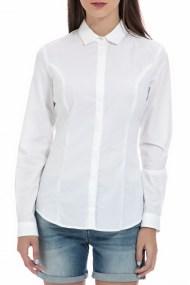 GAS - Γυναικείο πουκάμισο GAS FIMIA LACE POPELIN λευκό