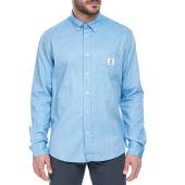 FRANKLIN & MARSHALL - Ανδρικό μακρυμάνικο πουκάμισο Franklin & Marshall γαλάζιο image