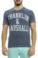 FRANKLIN & MARSHALL - Ανδρική κοντομάνικη μπλούζα FRANKLIN & MARSHALL μπλε image