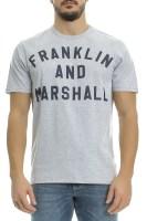 FRANKLIN & MARSHALL - Ανδρική μπλούζα Franklin & Marshall γκρι-μπλε image