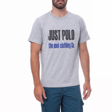 JUST POLO - Ανδρική μπλούζα Just Polo γκρι