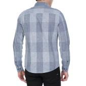 CALVIN KLEIN JEANS - Ανδρικό μακρυμάνικο καρό πουκάμισο Calvin Klein Jeans μπλε image